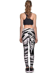 Cool Tiger Printed High Waisted Womens Yoga Sporty Workout Leggings