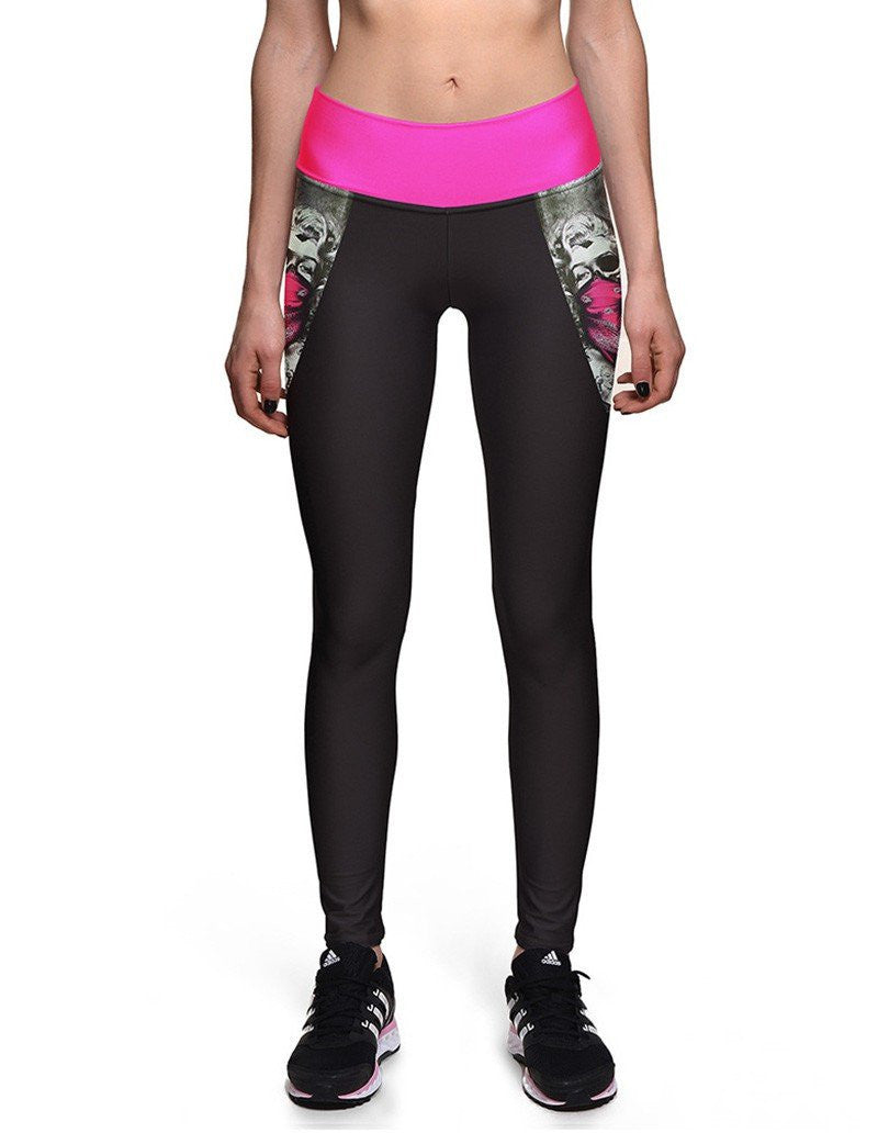 Marilyn Monroe Pirate Print Womens Flexible Yoga Workout Leggings
