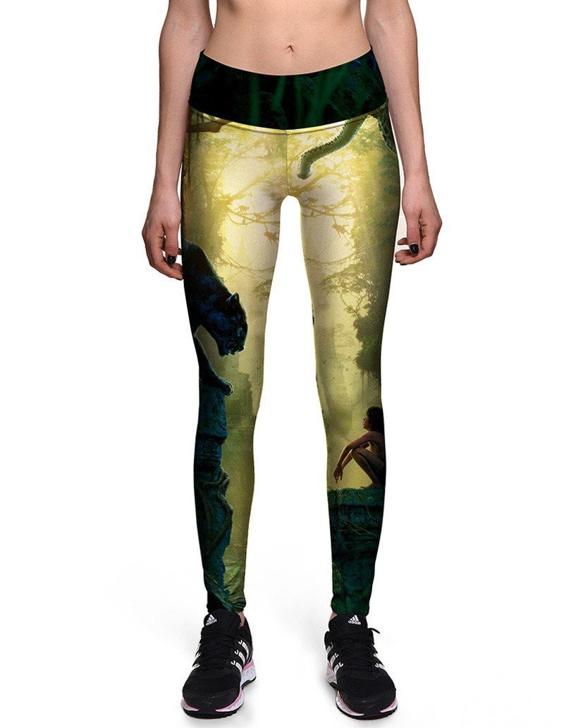 The Jungle Book Printed Womens Tights Workout Yoga Leggings