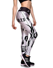 Nypo Boy 41 Bro Nx Print Elastic Waistband Womens Yoga Leggings