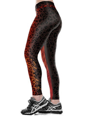 Womens Sexy Leopard Furry Printed Tights Running Workout Leggings