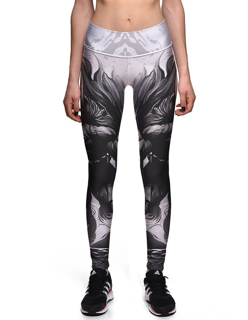 Womens Chic Batman Printed Elastic Waistband Workout Tights Leggings