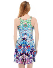 Multi Pokemon Pocket Monsters Printed Skater Dress
