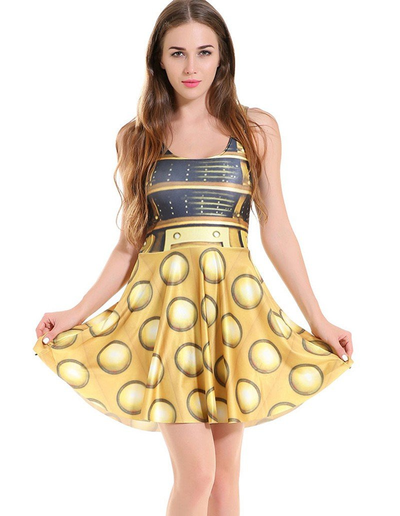 C-3Po Star Wars Printed Skater Dress