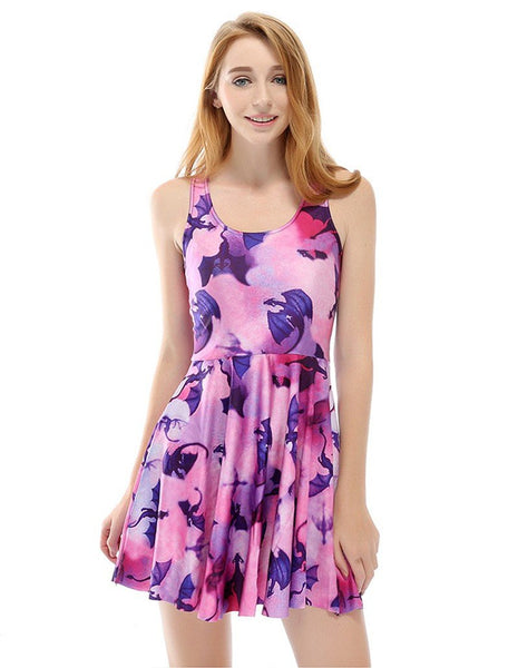 Pterosaur Prints Summer Vest Skater Dress
