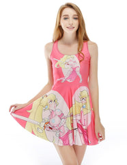 Cute Pink Disney Princess Combat Summer Skater Dress