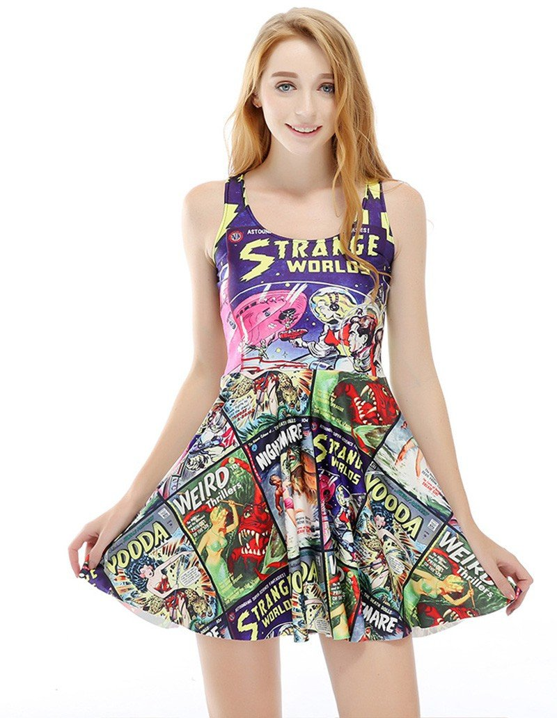 Strange Worlds Film Posters Print Skater Dress