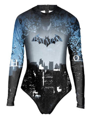 Batman The Night City Rashguard Surf Suit Womens One Piece Swimwear