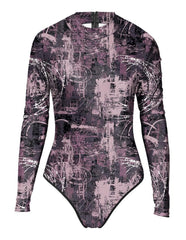 Womens War In The City Rash Guard Long Sleeve One Piece Swimwear