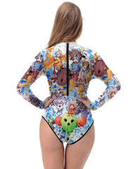 Pocket Monsters Long Sleeve One Piece Monokini Rash Guard Swimwear