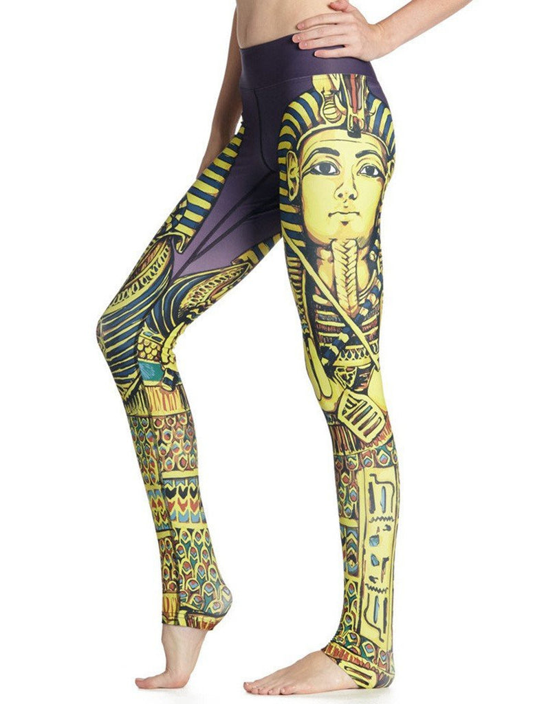 Fun Cleopatra Print Breathable Quick-Dry Womens Workout Yoga Leggings