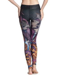 Sexy Mythical Octopus Printed Breathable Stretchy Womens Yoga Leggings