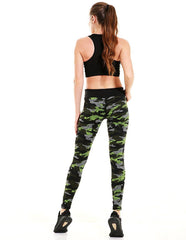Camouflage Printed Breathable Womens Running Yoga Workout Leggings