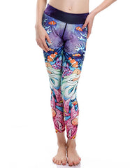 Sexy Sea World And Clownfish Print Stretchy Womens Workout Leggings