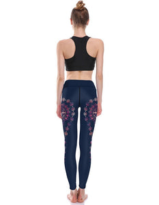 Sexy Colorful Romany Water Drop Print Breathing Womens Yoga Leggings