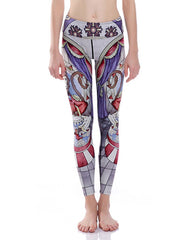 Funky Monkey Drums Print Breathable Stretchy Workout Leggings