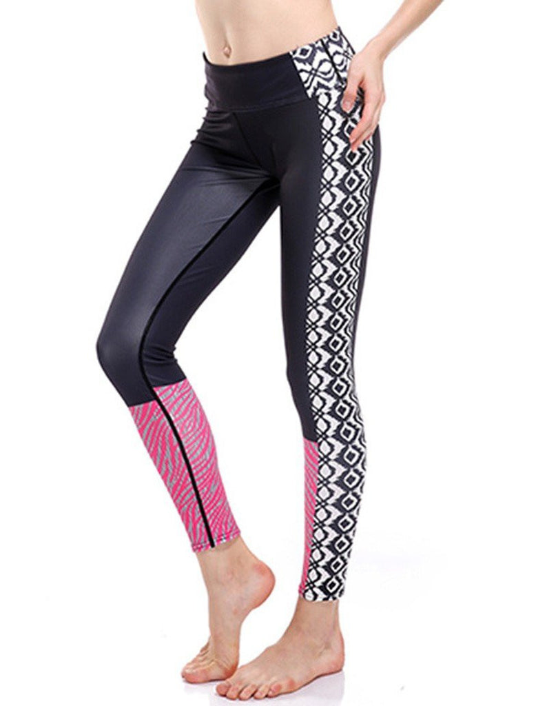 Unique Pink Trouser Legs Slimming Breathing Workout Yoga Leggings