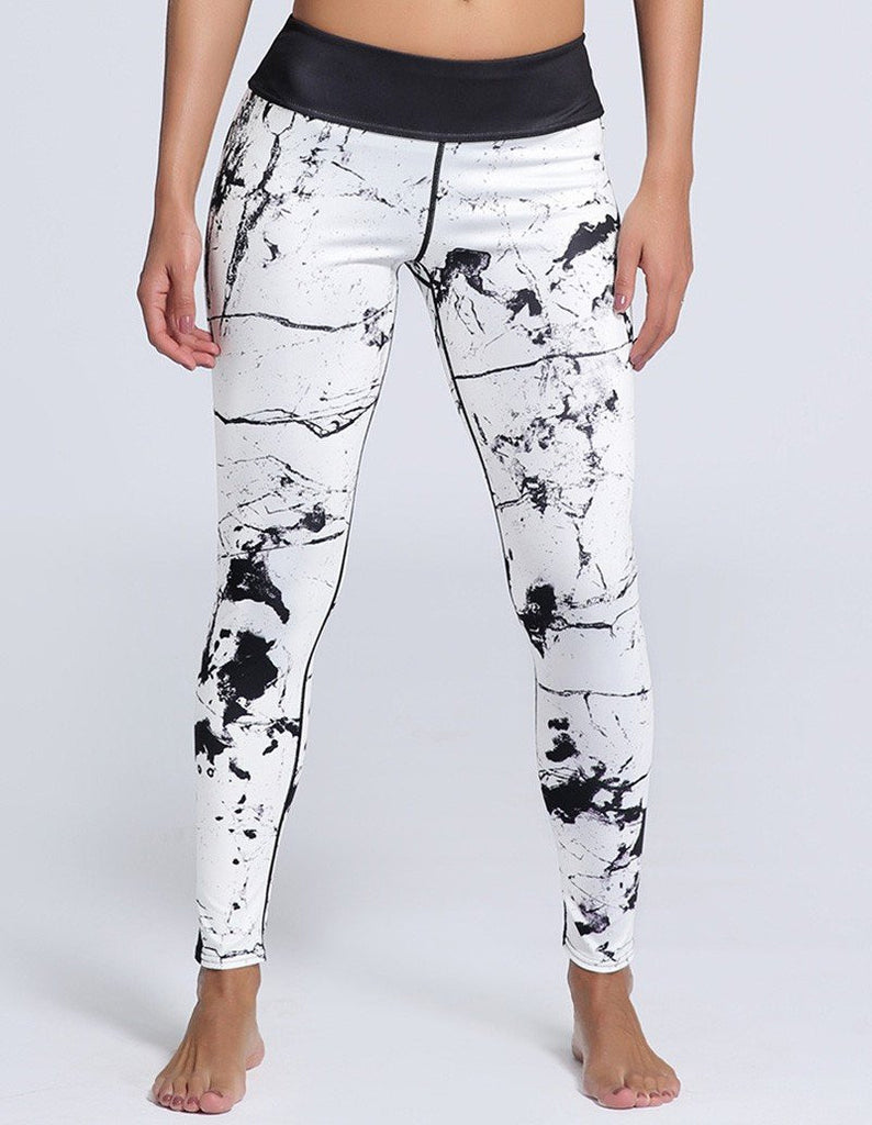 Cool Abstract Scrawling Printed Tights Womens Workout Yoga Leggings