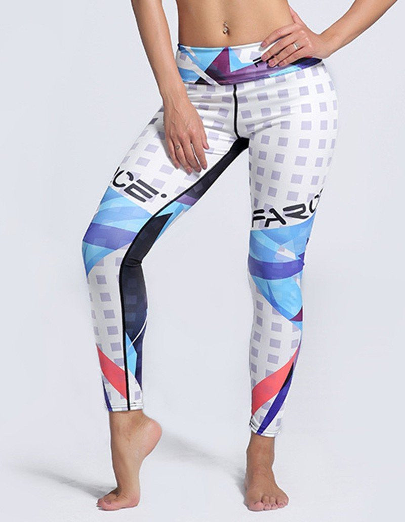 Fashion Womens Alphabet Printed Tights Yoga Workout Running Leggings