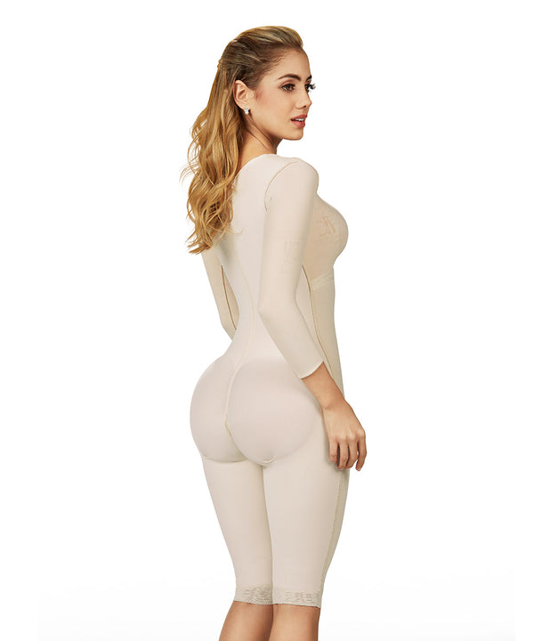 Medium Compression - Bodysuit Knee With Bra - Sleeves - Center Clasps ( Ref. C-018 )
