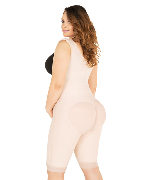 NEW! Faja Colombiana Knee Bodysuit, girdle & butt lifter for smooth curves (Ref.O-022)