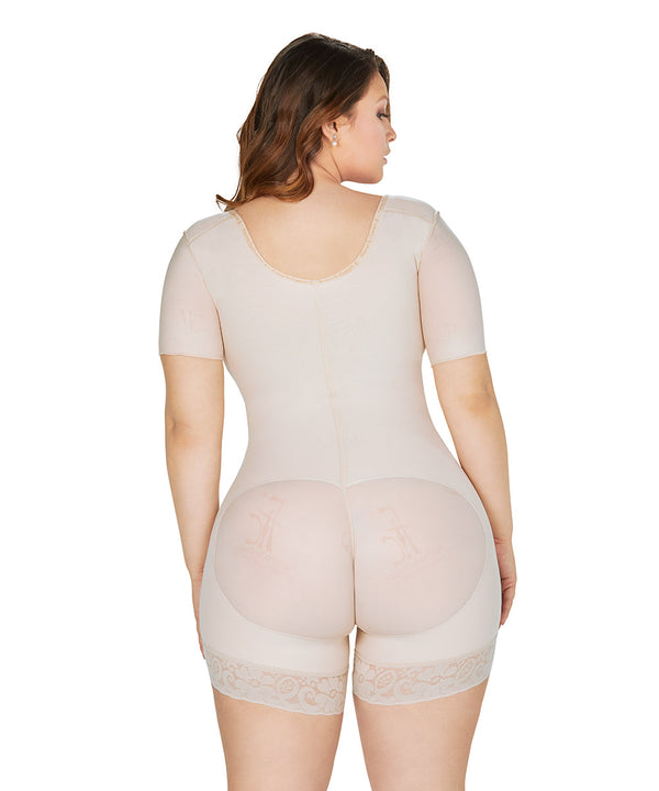 Faja Colombiana Short Bodysuit Arms control,  High Quality Shapewear & Butt Lifter (Ref. O-014 )