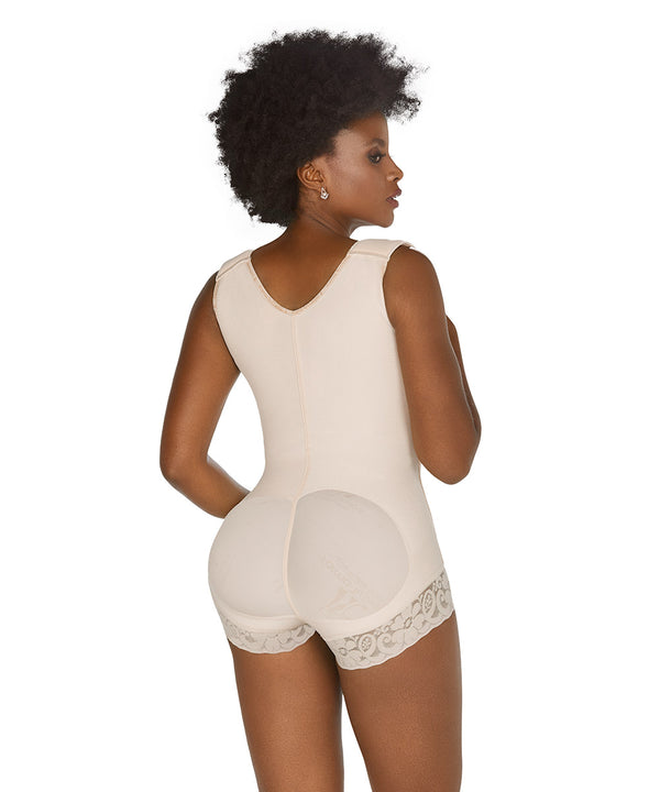 Body short, zipper and lifts buttoks, Colombian Faja (Ref. O-080 )