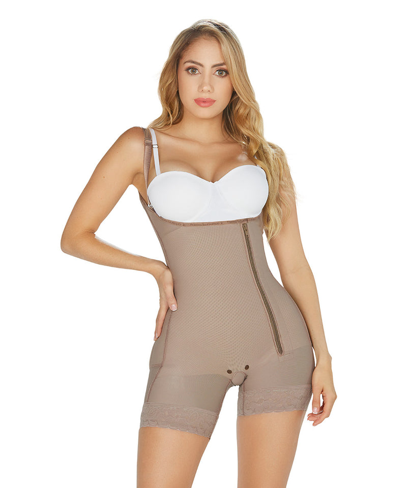 FAJA COLOMBIANA SHORT , BODYSHAPER & GIRDLEBODYSUITE, MID THIGH SIDE ZIPPER, WITH BUTT LIFTER (Ref. P-010 )