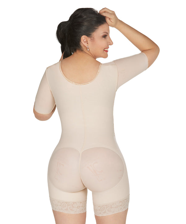 Faja Colombiana Short Bodysuit Arms control,  High Quality Shapewear & Butt Lifter (Ref. O-014)