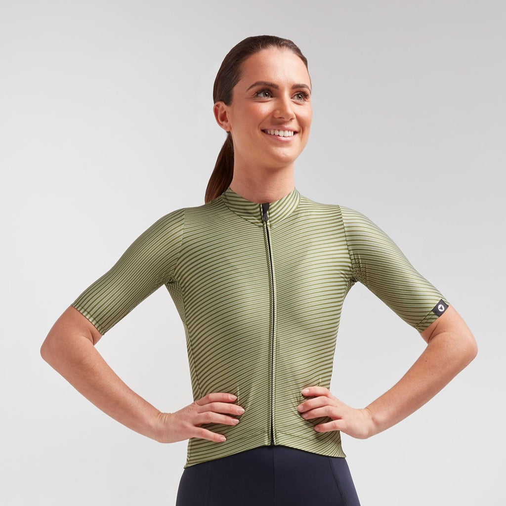 Women's Essentials TEAM Jersey - Green Moire