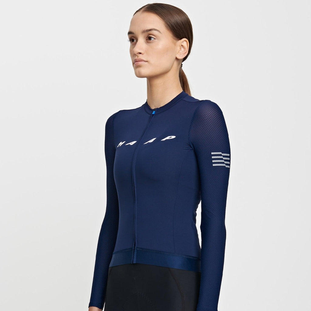 Women's EVADE Long Sleeve Jersey - NAVY