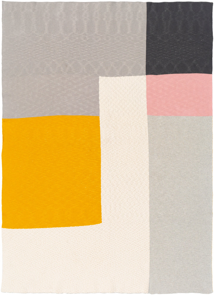 Medium Gray, Charcoal, Rose, Saffron, Cream