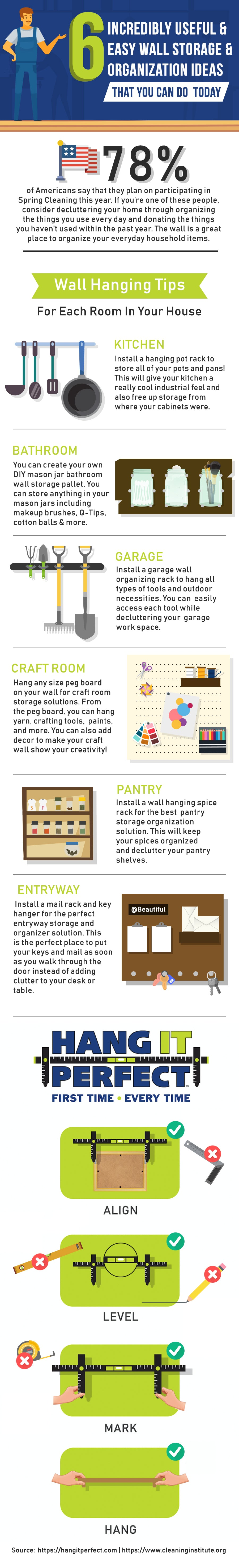 wall hanging storage tips
