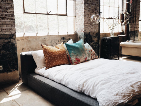Industrial Bedroom Accent Wall