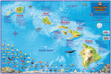 Hawaii Map Poster - Hawaiian Islands Adventure Guide Laminated Poster