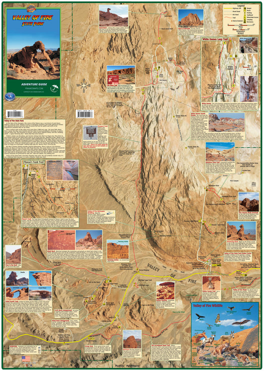 Valley Of Fire Adventure Guide Map Franko Maps