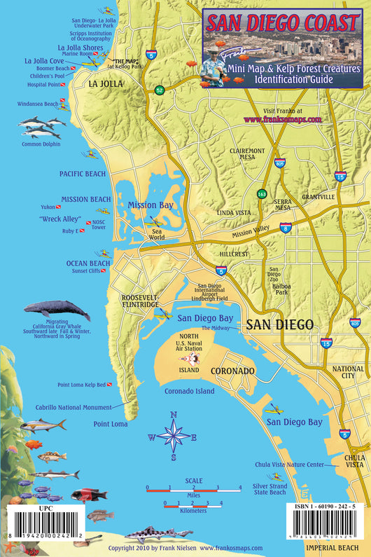San Diego Coast Mini Map and Fish ID