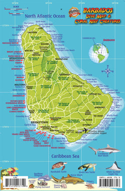 Barbados Dive Map