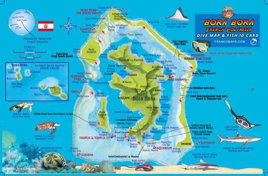 Franko Maps Mini Map of Bora Bora