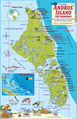 Andros Island Bahamas map by Franko Maps