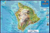 "Hawaii ""Big Island"" Adventure Guide Map Laminated Poster"