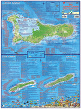 Cayman Islands Dive Map Poster