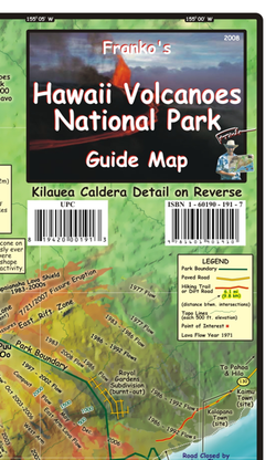 Hawaii Volcanoes National Park Guide Map