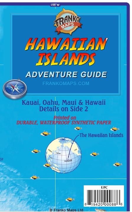 Hawaiian islands adventure guide map franko maps hawaiian islands adventure guide map sciox Choice Image