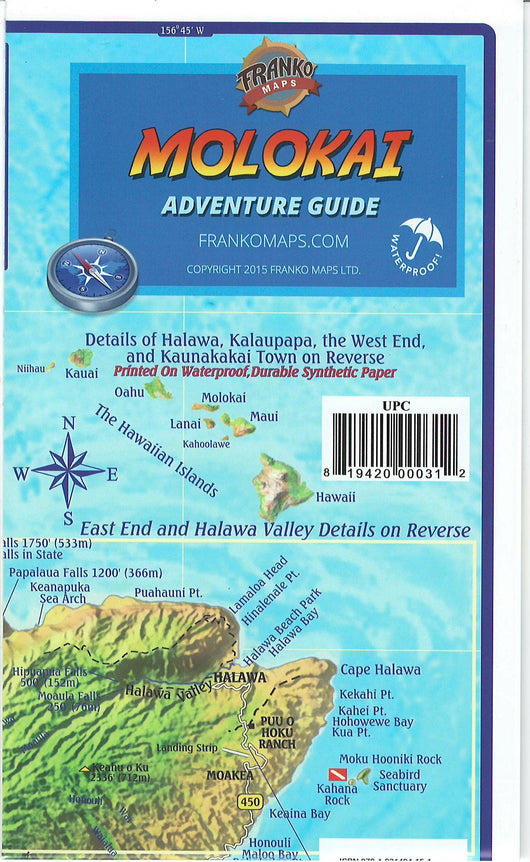 Molokai Adventure Guide Map