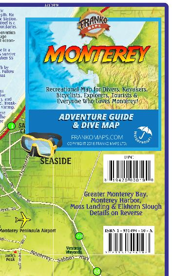 Monterey Adventure Guide & Dive Map