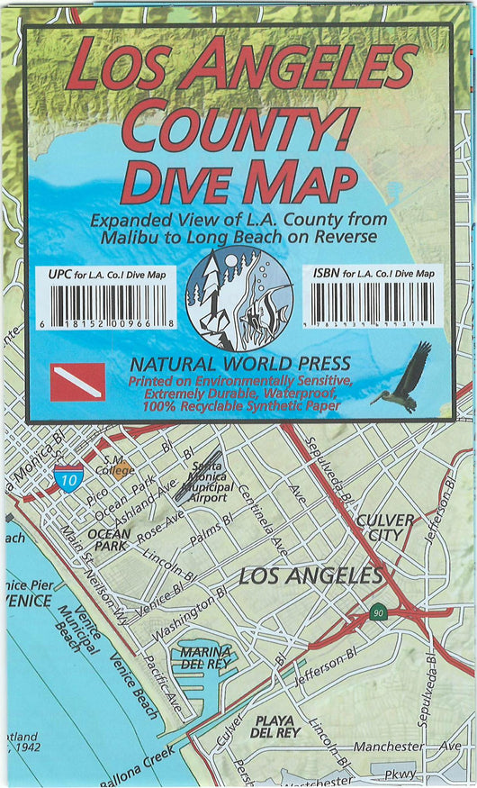 Los Angeles County Dive Map