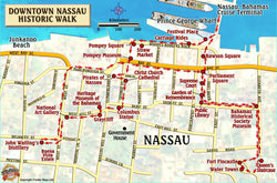 Nassau Historic Walking Tour Map Card