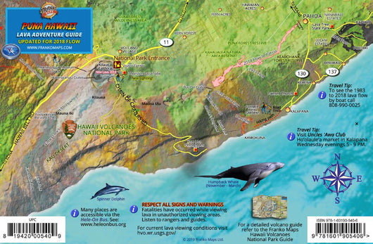 Puna Hawaii Lava Guide Map Card