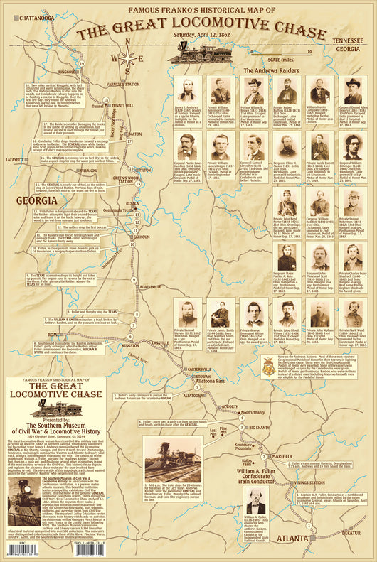Great Locomotive Chase Map